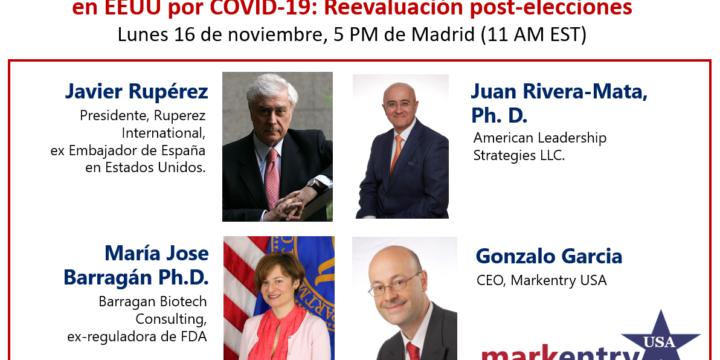 Webinar Markentry USA: Oportunidades en Biotech/Farma en EEUU por COVID-19: Reevaluación post-elecciones