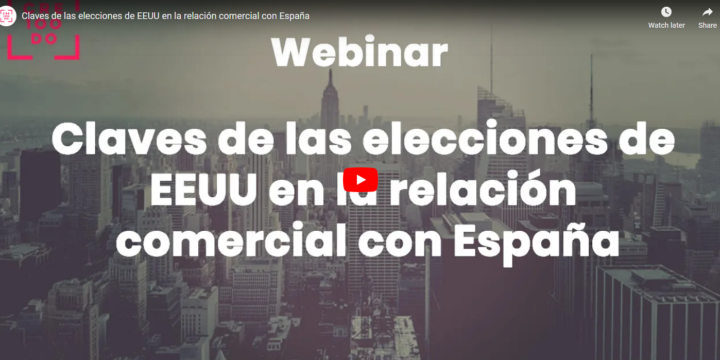 Webinar con Fundación CRE100DO e ICEX: Claves tras las elecciones de EEUU en la relación comercial con España